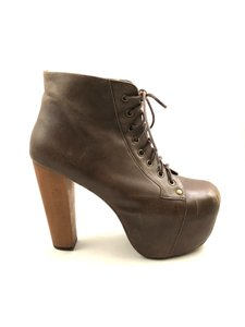 Jeffrey Campbell Lita Leather Brown Boots
