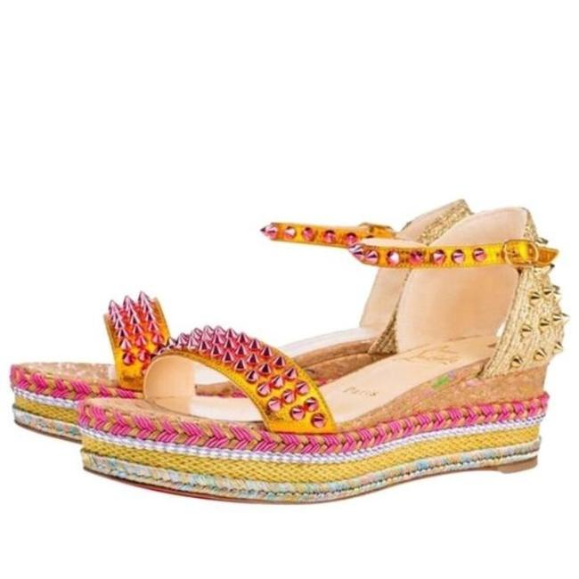 Item - Gold Madmonica Full Moon Yellow Orange Sandal Wedge Flats Size EU 39 (Approx. US 9) Regular (M, B)