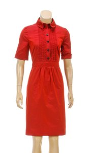 Burberry short dress Red on Tradesy