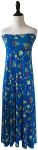 LuLaRoe Floral Maxi Skirt Blue and yellow