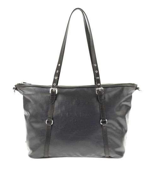 Preload https://img-static.tradesy.com/item/23035611/prada-logo-black-coated-canvas-tote-0-2-540-540.jpg