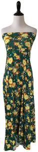 LuLaRoe Blue Floral Maxi Skirt Green and yellow