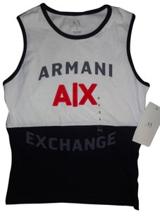 A|X Armani Exchange Top White, Black, Red