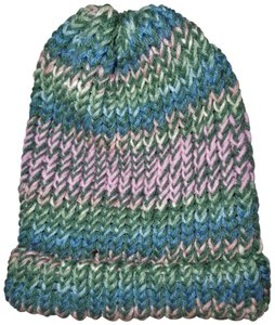 Unbranded Knitted Striped Beanie Hat