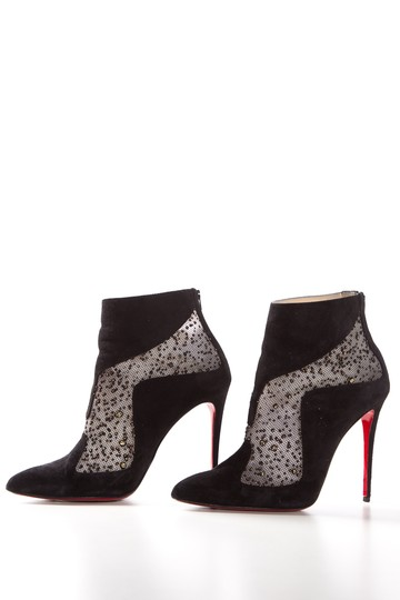 f53db9a0cf27 Christian Louboutin Black Suede Pointed-toe Boots Booties Size EU 40 ...