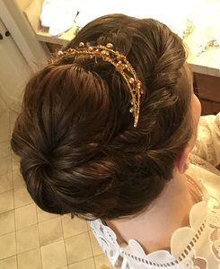BHLDN Gold Handmade Tiara