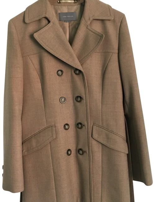 Item - Tan Double Breasted Wool Coat Size 10 (M)