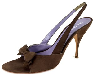 Miu Miu Special Occasion Dinner Date Classic Vintage Brown Pumps