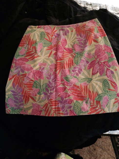 Lilly Pulitzer Reversible Reversible Mini Skirt Pink green yellow