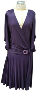 Gucci short dress Purple Knit Jersey Batwing Belted on Tradesy