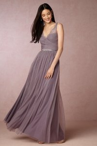 BHLDN Dusty Plum Tulle Fleur Feminine Bridesmaid/Mob Dress Size 4 (S) - item med img