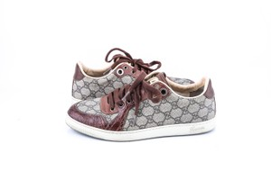 Gucci * Brown Plus Interlock Logo California Sneakers Shoes