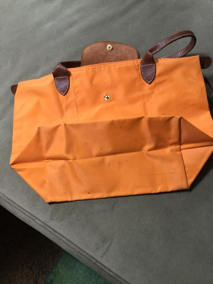 0ff5f4c13425 Longchamp Le Pliage Orange Fabric Tote - Tradesy