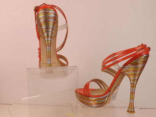 Brian Atwood coral Sandals