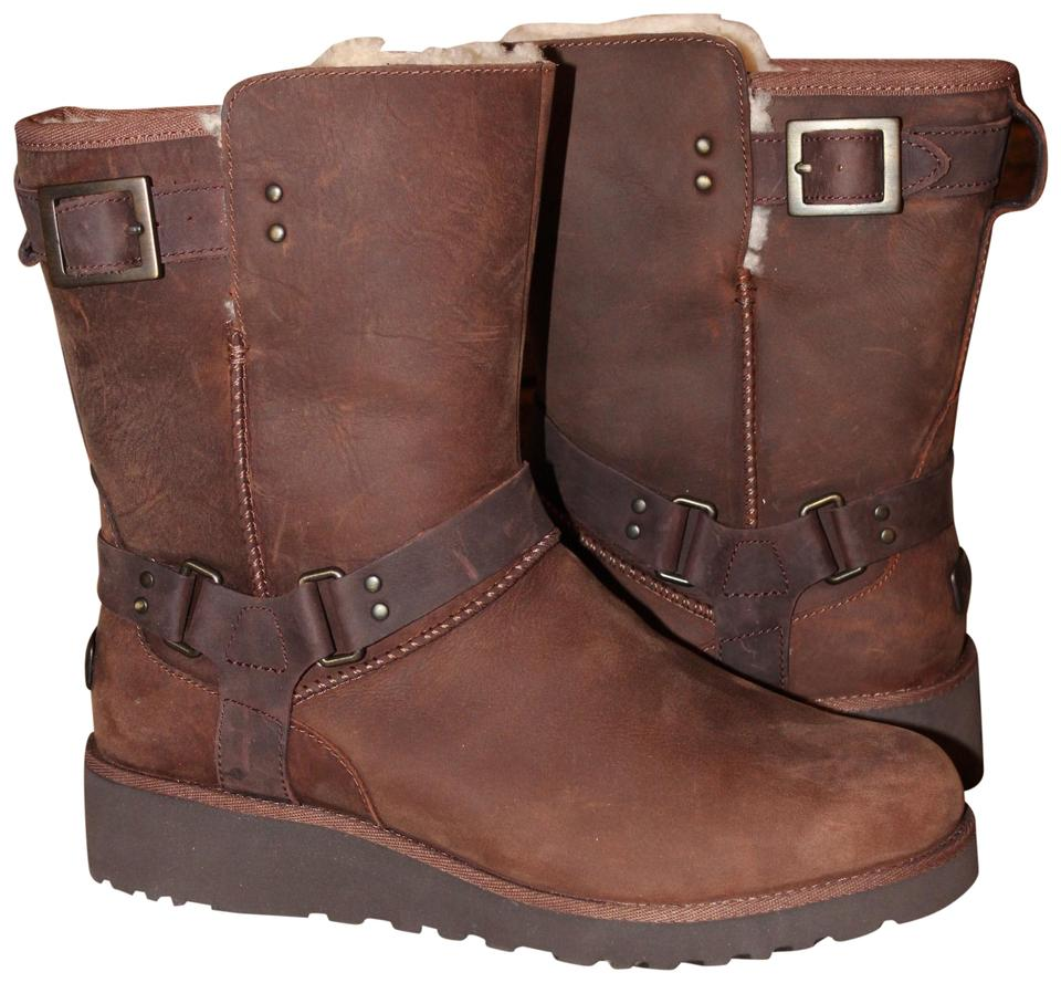b8ac14e7737 UGG Australia Brown Women's Maddox Water Resistant Moto Buckle Leather  Boots/Booties Size US 10 Regular (M, B) 23% off retail