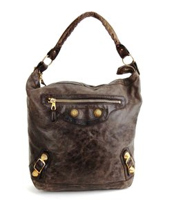 Balenciaga Part Time Motorcycle Classic Leather 2-way Shoulder Bag