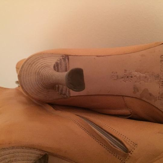 Gian Marco Lorenz Gold Toe Leather Vintage Tan Boots