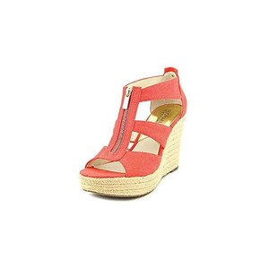 MICHAEL Michael Kors red coral gold Wedges