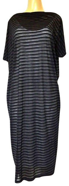 Item - Blue Midi Two Layer Double Navy White Pcs Mid-length Casual Maxi Dress Size 2 (XS)