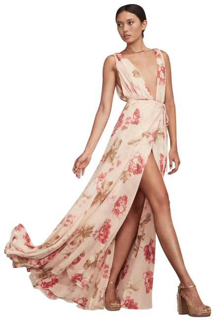 Item - Peach Sophia Maxi Wrap Long Formal Dress Size 0 (XS)