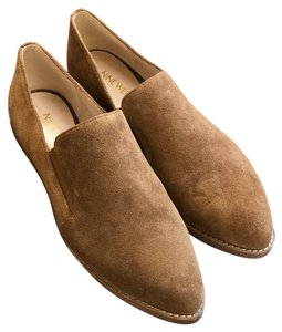 Nine West Suede Classic Pointed Toe Comfortable Brown Flats