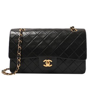 Chanel Vintage Lambskin Classic Flap Shoulder Bag