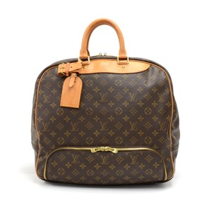 Louis Vuitton Monogram Canvas Handbag Brown Travel Bag