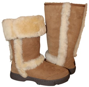 de3570c12bc UGG Australia Chestnut Brown Sunburst Tall Waterproof Leather Suede  Shearling Lined Boots/Booties Size US 8 Regular (M, B) 30% off retail