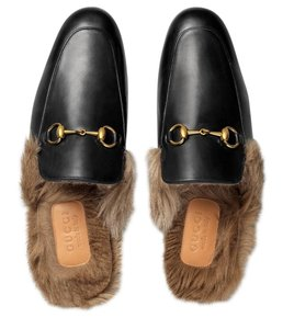 1d7689ade46 Gucci Black Mules. Gucci Black Princetown Leather Fur Slip-on Loafers  Slippers Men s ...