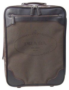 Prada Luggage Trolley Carryon Carry-on Suitcase Brown Travel Bag