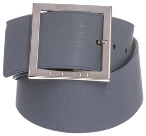 BVLGARI Bulgari Light Blue Oversize Buckle Belt 36