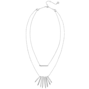 Stella & Dot Rebel Cluster Necklace in Silver