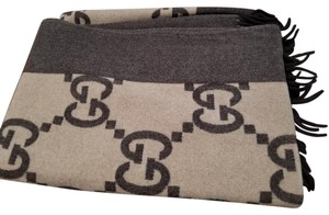 Gucci Gucci Two Tone Brown Luxury Throw Blanket