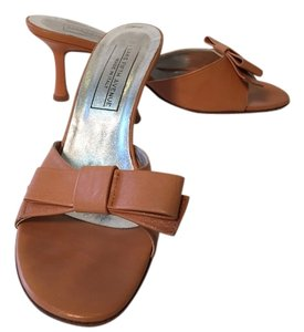 Saks Fifth Avenue Tan Mules