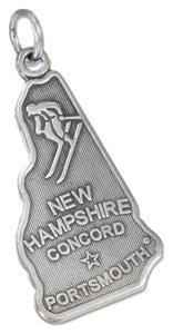 unknown Sterling Silver Antiqued New Hampshire State Charm