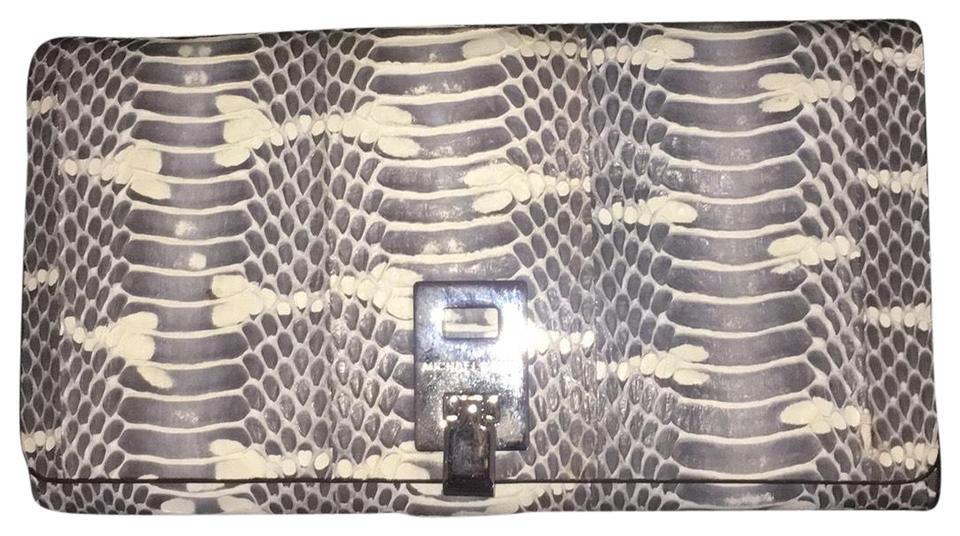 4d3c602e26b4 Michael Kors Collection Genuine Natural Color Snakeskin Miranda Continental  31t4pmdw3s Wallet