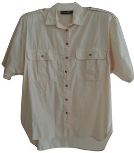 Outback Red Button Down Shirt pale peach