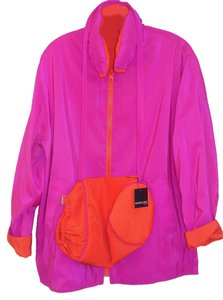 Mycra Pac Fuscia and Orange Jacket