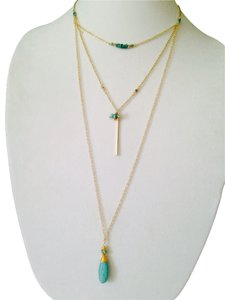 Nakamol Nakamol Turquoise 3 Strand Long Necklace