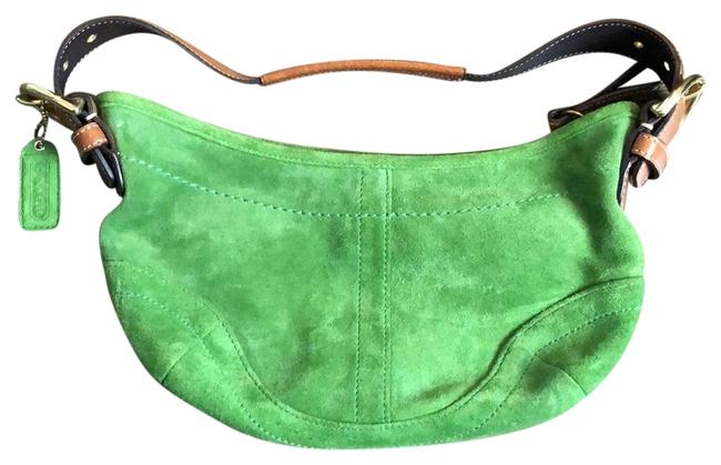 Item - Green Suede Leather Hobo Bag