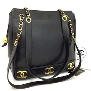 ba5d1f6343bd Added to Shopping Bag. Chanel Vintage Caviar Tote in Black 5730. Chanel  Shopping Caviar Cc Gold Plated Motifs Black 5730 Leather Tote