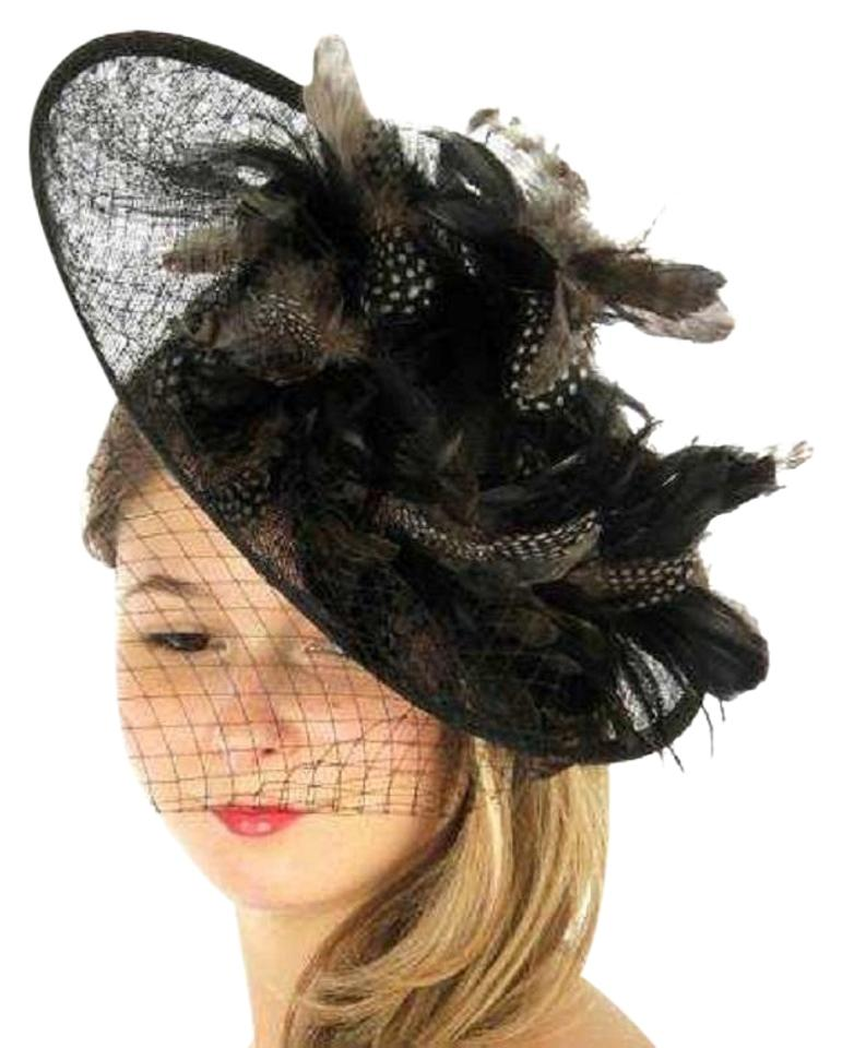 kentucky derby hat New Kentucky Derby dressy Formal church hat Feather Fascinator  Hat ... 321eb235c0b