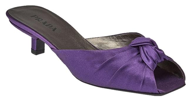 Item - Purple Satin Heels (38966) Sandals Size US 7 Regular (M, B)