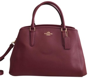 Coach Satchel in Crimson