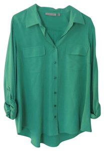 Next Level Button Down Shirt Green