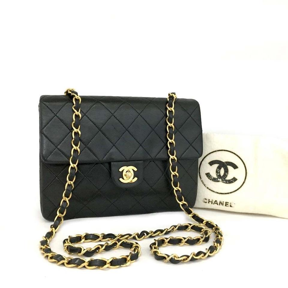 c00bd22b7fab Chanel Flap Front Cc Turn Lock Gold Hardware Mini Lambskin Shoulder Bag  Image 0 ...