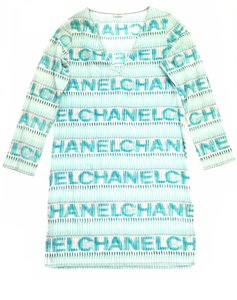 Chanel Chanel Logo Cotton Sheer swim cover-up