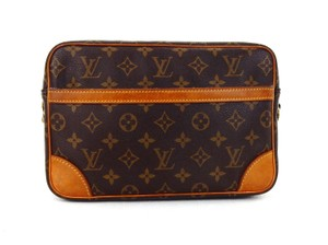 Louis Vuitton Vintage France Toiletry Brown Travel Bag