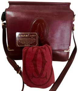 8cb01bd5cc3af Cartier De Leather Bordeaux Cross Body Bag