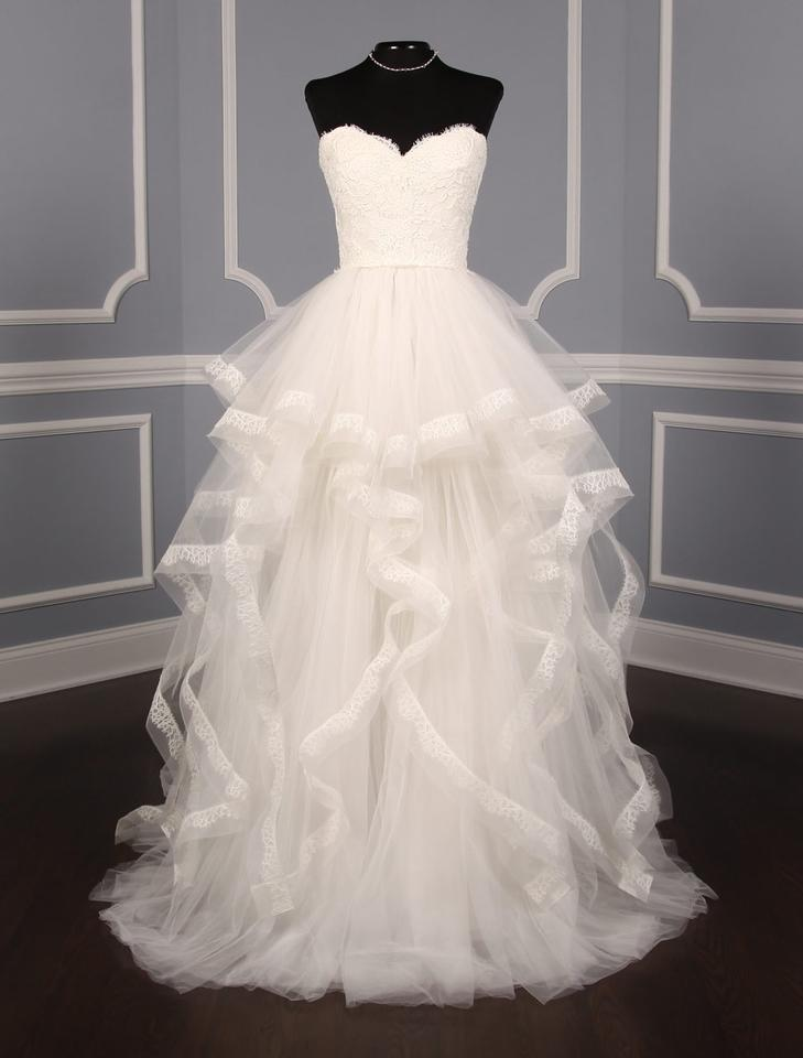 Reem Acra Light Ivory French Alencon Lace Tulle Chantilly ...